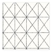 A-Street Prints Gridlock Geometric Wallpaper in Black