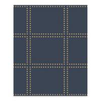 A-Street Prints Gridlock Geometric Wallpaper in Navy