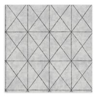 A-Street Prints Intersection Geometric Wallpaper in Silver