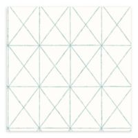 A-Street Prints Intersection Geometric Wallpaper in Turquoise
