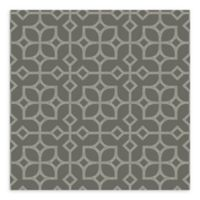 A-Street Prints Maze Tile Wallpaper in Grey