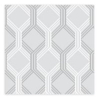A-Street Prints Linkage Trellis Wallpaper in Grey