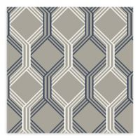A-Street Prints Linkage Trellis Wallpaper in Navy