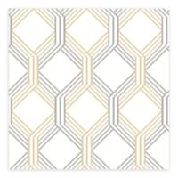 A-street Prints Linkage Trellis Wallpaper in Gold