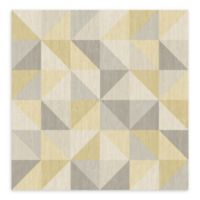 A-Street Prints Puzzle Geometric Wallpaper in Yellow