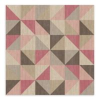 A-Street Prints Puzzle Geometric Wallpaper in Pink