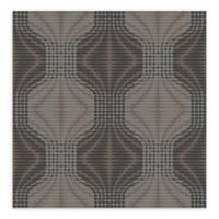 A-Street Prints Optic Geometric Wallpaper in Brown