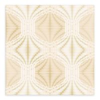 A-Street Prints Optic Geometric Wallpaper in Gold