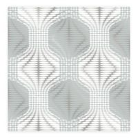 A-Street Prints Optic Geometric Wallpaper in Blue