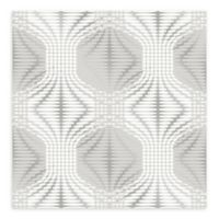 A-Street Prints Optic Geometric Wallpaper in Silver