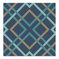 A-Street Prints Saltire Lattice Wallpaper in Navy