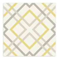 A-Street Prints Saltire Lattice Wallpaper in Yellow