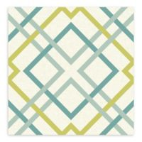 A-Street Prints Saltire Lattice Wallpaper in Green