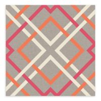 A-Street Prints Saltire Lattice Wallpaper in Pink