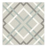 A-Street Prints Saltire Lattice Wallpaper in Taupe