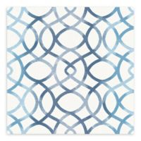 A-Street Prints Twister Trellis Wallpaper in Blue