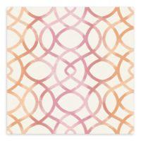A-Street Prints Twister Trellis Wallpaper in Pink