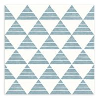 A-Street Prints Summit Triangle Wallpaper in Turquoise