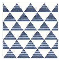 A-Street Prints Summit Triangle Wallpaper in Blue