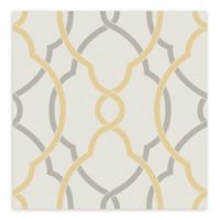A-Street Prints Sausalito Lattice Wallpaper in Yellow