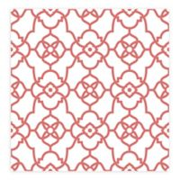 A-street Prints Atrium Trellis Wallpaper in Coral