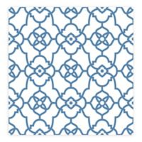 A-street Prints Atrium Trellis Wallpaper in Blue