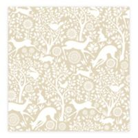 A-Street Prints Meadow Animals Wallpaper in Taupe