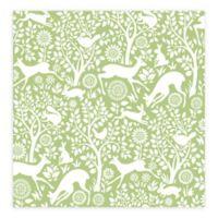 A-Street Prints Meadow Animals Wallpaper in Green