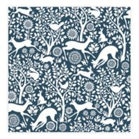 A-Street Prints Meadow Animals Wallpaper in Navy