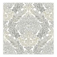 A-street Prints Fontaine Damask Wallpaper in Grey