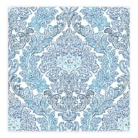 A-street Prints Fontaine Damask Wallpaper in Navy
