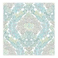 A-street Prints Fontaine Damask Wallpaper in Teal