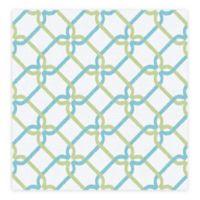 A-Street Palladian Links Geometric Wallpaper in Teal