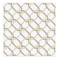 A-Street Palladian Links Geometric Wallpaper in Honey