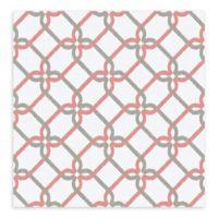 A-Street Palladian Links Geometric Wallpaper in Coral