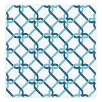 A-Street Palladian Links Geometric Wallpaper in Turquoise
