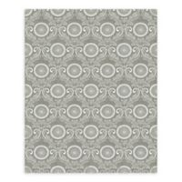 A-Street Prints Jubilee Medallion Damask Wallpaper in Grey