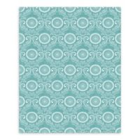 A-Street Prints Jubilee Medallion Damask Wallpaper in Teal