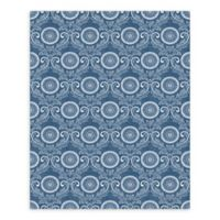 A-Street Prints Jubilee Medallion Damask Wallpaper in Blue