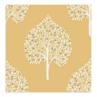 A-Street Prints Grove Tree Wallpaper in Mustard