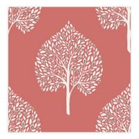 A-Street Prints Grove Tree Wallpaper in Coral