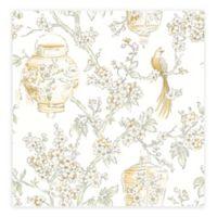 A-Street Prints Serenity Lanterns Wallpaper in Honey