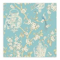A-Street Prints Serenity Lanterns Wallpaper in Turquoise