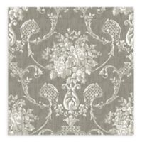 A-Street Prints Winsome Floral Damask Wallpaper in Grey