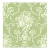 A-Street Prints Winsome Floral Damask Wallpaper in Green