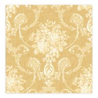 A-Street Prints Winsome Floral Damask Wallpaper in Mustard