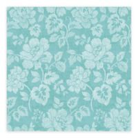 A-Street Prints Tivoli Floral Wallpaper in Turquoise