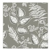 A-Street Prints Trianon Botanical Wallpaper in Grey