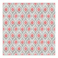 A-Street Prints Plume Ogee Wallpaper in Coral
