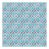 A-Street Prints Plume Ogee Wallpaper in Turquoise